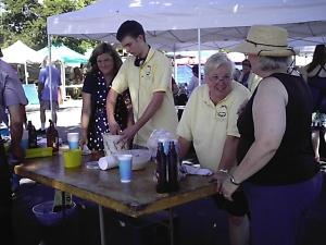 Jan, Alex and Debbie serving Ice Cream