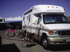 Ginger's motor home away from home