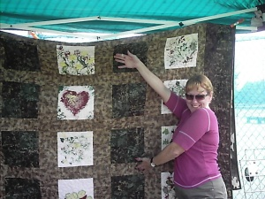 Kathy and the quilt
