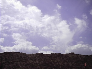 Sky of the Franklin Mts in El Paso