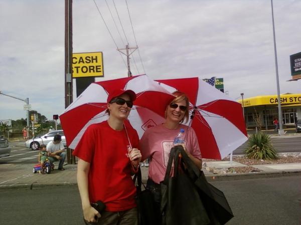 Umbrella Girls Clare and Carol